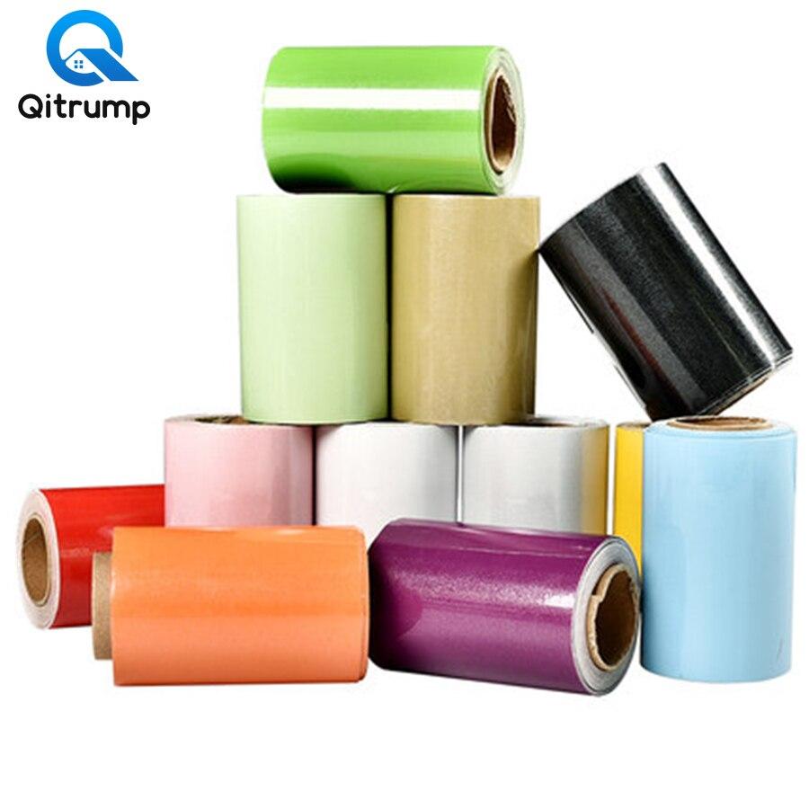 Solid Color PVC Waterproof Waist Line Self Adhesive Skirting Line Wallpaper Bathroom Living Room Decor Vinyl Border Wall Sticker