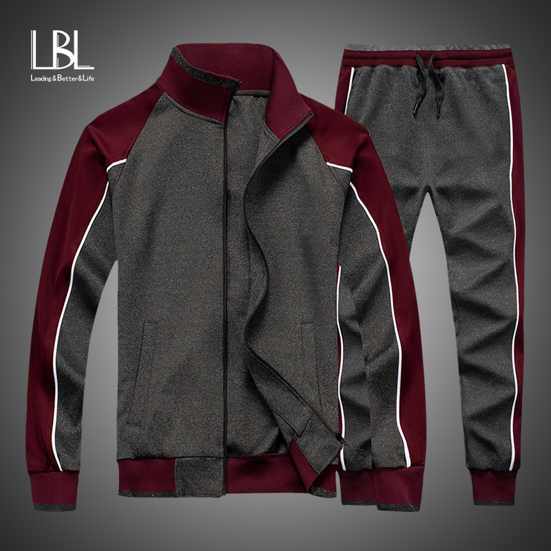 Brand New Casual Tracksuit Men 2020 Spring Zipper Jackets+Pants 2 Pieces Sets Male Slim Sportswear Fashion 2PCS Men's Streetwear