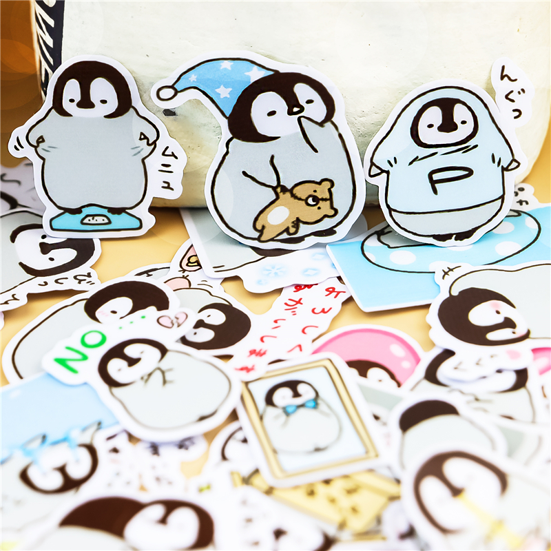 45pcs Creative Cute Animal Self-made Penguin Scrapbooking Stickers /decorative Sticker /DIY Craft Photo Albums Waterproof