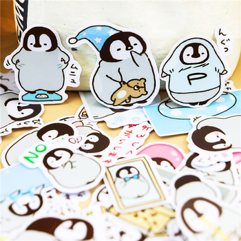 45pcs Creative cute animal self-made penguin scrapbooking stickers /decorative sticker /DIY craft photo albums waterproof - discount item  48% OFF Stationery Sticker
