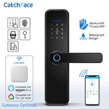 ברזיל מחסן WIFI App אלקטרוני מנעול דלת טביעות אצבע ביומטרי מנעול דלת RFID Bluetooth חכם דיגיטלי Keyless מנעול TTlock