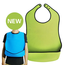 Adult Bib Aprons Senior Citizen Cloth-Protector Elderly-Aged Waterproof Aid Disability