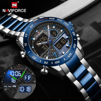 NAVIFORCE Luxury Brand Men Watch Military Digital Sport Wristwatch Mens Steel Strap Waterproof Clock Male Relogio Masculino 2020 цена 2017