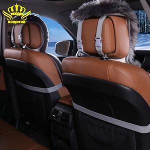 Image 5 - Housse de siège arrière, fausse fourrure, 4 couleurs, universelle pour tous les types de sièges, pour voiture lada priora, pour peugeot 406, lada, 3 pièces