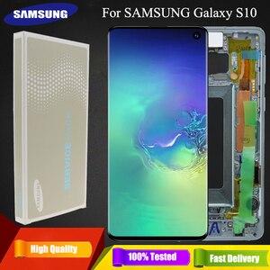 Image 1 - 3040x1440 Original 6.1 S10 LCD Für SAMSUNG Galaxy S10 G973F/DS G973U G973 SM G973 Display Touch screen Digitizer Ersatz