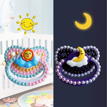 1 Pair DDLG Adult Nipples Day And Night Baby Pacifier With Sun Or Moon Adult Pacifier For Daddy For Girl