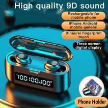 2020 New F9 Wireless Earbuds Bluetooth 5.0 Earphone TWS 9D HIFI Mini In-ear Sports Running