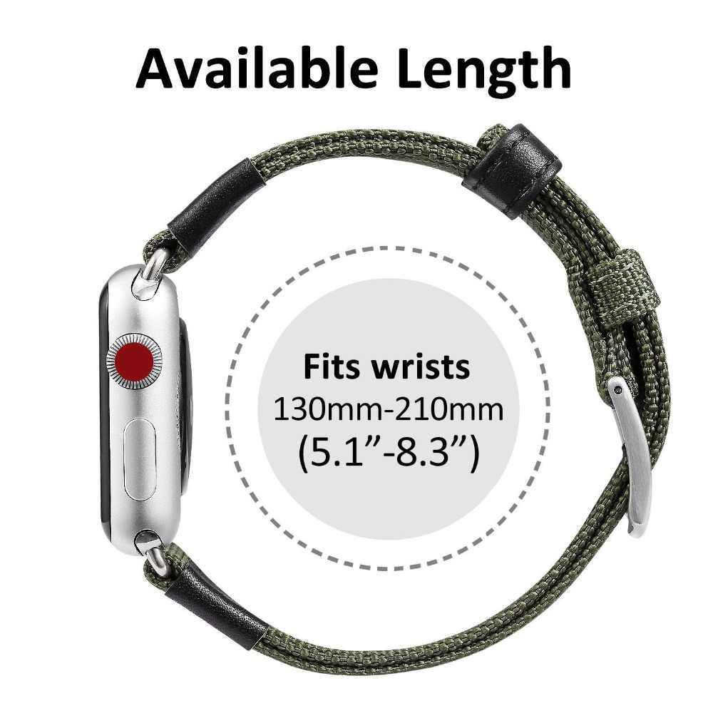 ספורט ניילון שעון רצועת עבור אפל שעון להקת 5 4 40mm 44mm החלפת watchBands רצועת 38mm 40mm עבור iWatch 5 4 3 2
