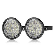 12 В 18 светодиодный DRL Круглый дневной ходовой светильник для автомобиля, противотуманная фара для грузовика, внедорожника, квадроцикла, мотоцикла, велосипеда