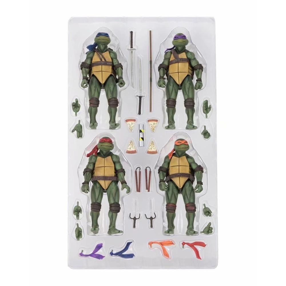 Raphael Leonardo Michelangelo Donatello Action Figure Classic Movie Film 1990's Collection Model Toys Doll