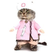 Creative Funny Pet Uniform Soft Comfortable Shirt Pet Cats Dogs Clothes Nurse Cosplay Perform Costume Dress Pet Supplies(China)