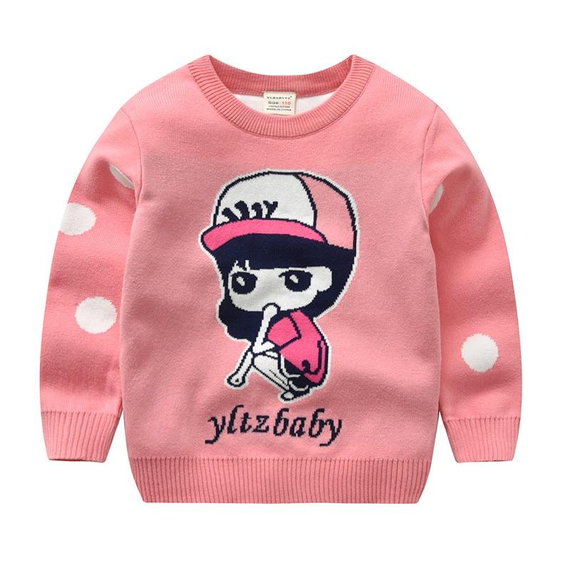 2018 Girls Autumn And Winter New Style Cotton Children Korean-style Fashion Pullover Children Pullover Sweater Coat