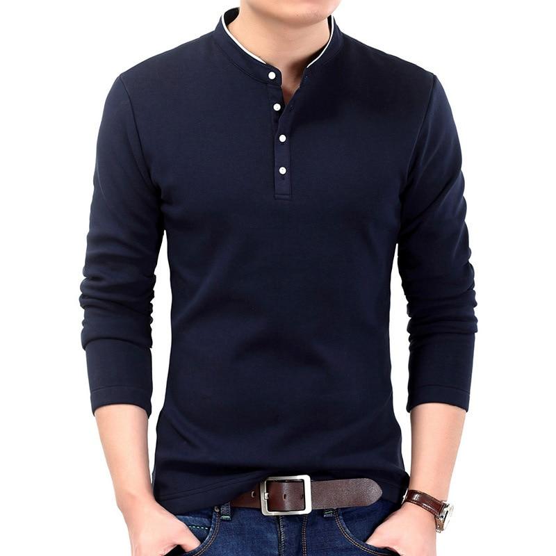 Spring Man Shirt Slim Fit Polo Shirt Men Plus Size Long Sleeve Male Polo Shirt Casual Cotton Brand Big Size Men Polo Shirt