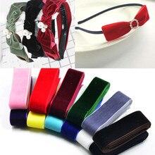 5 ярдов(10-25 мм) бархатная лента для украшения свадебной вечеринки лента ручной работы подарочная упаковка банты для волос DIY Рождественская лента