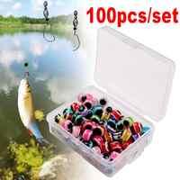 Fish Eye Fishing Bead Carolina Rig Beads 6mm 8mm Plastic Fishing Beads Texas Rig Accessories Bass Fishing Tackle 35DC26