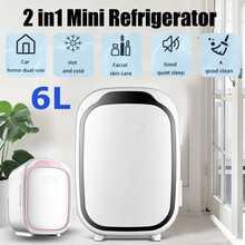 6l mini casa de acampamento refrigerador elétrico caixa legal e mais quente 12v viagem portátil caixa freezer para carro caminhão automóvel