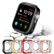 Protect-Case Watch-Series Flexible-Cover Octagon-Plated Bumper Apple 40mm TPU Soft