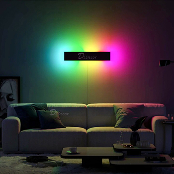 Nordic RGB LED Wall Lamp Bedroom Bedside Home Decoration Wall Light,Colorful Restaurant Living Room Indoor Lighting Fixtures