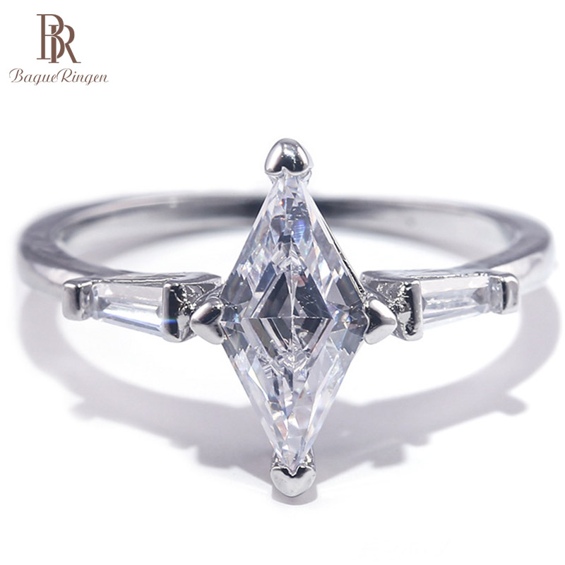 Bague Ringen 100% Silver 925 Ring Woman Jewelry With Big Creative Moissanite Gemstone Female Anniversary Gift Wholesale Size6-10