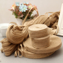 10Meter Wholesale Crafts Jute Burlap Ribbon Bow Sewing DIY Jute Fabric Rope Cord String Gift Party Wedding Christmas Decoration