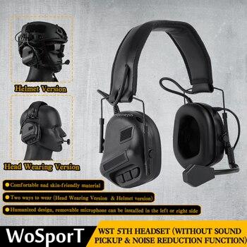 Тактическая гарнитура для шлема с быстрым адаптером для шлема, военная гарнитура для страйкбола и фотосъемки на открытом воздухе