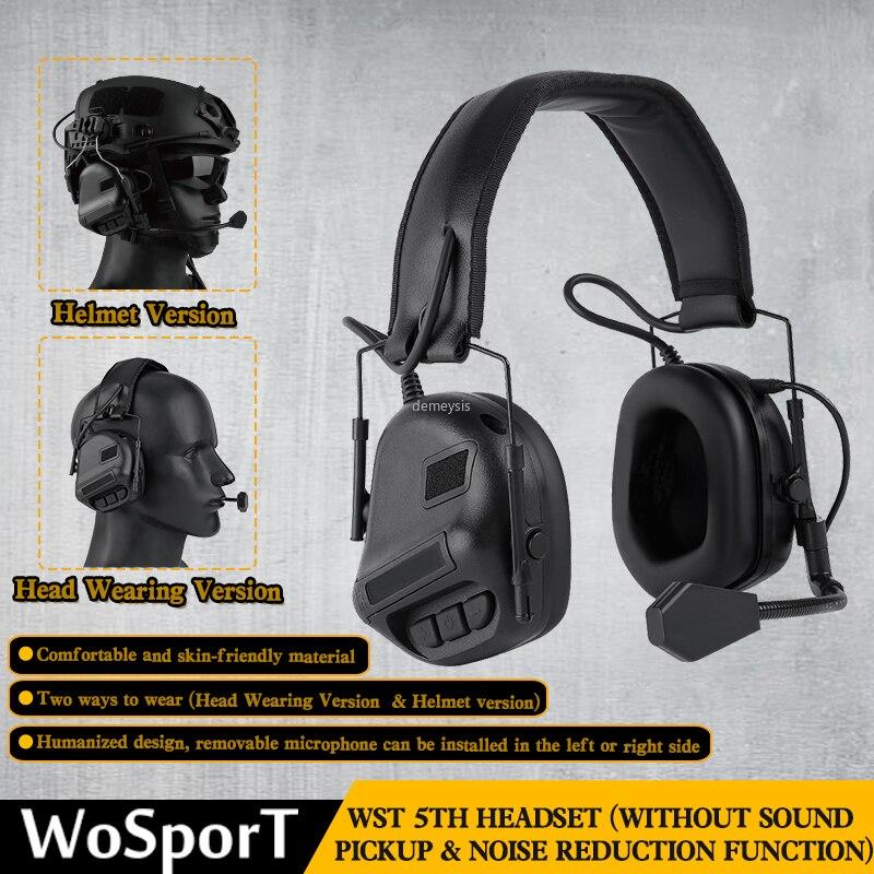 Тактическая гарнитура для шлема с быстрым адаптером для шлема, военная гарнитура для страйкбола и фотосъемки на открытом воздухе-0