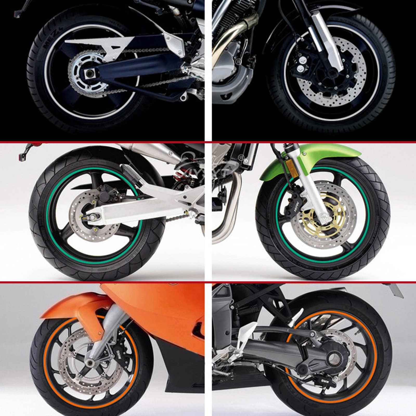 عجلة دراجة نارية ملصق ثلاثية الأبعاد عاكس ريم الشريط السيارات الشارات شرائط لكاواساكي نينجا 250 300 400 R VERSYS 300X ZX636R GTR1400