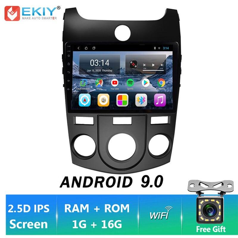 Ekiy ips android 9.0 para kia forte cerato 2008-2014 rádio do carro reprodutor de vídeo multimídia navegação gps estéreo bt wifi nenhum 2 din dvd