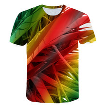 3D Youth Football Shirt Street Fashion Three-Dimensional Design Children's Shirt Short Sleeve Round Neck Shirt