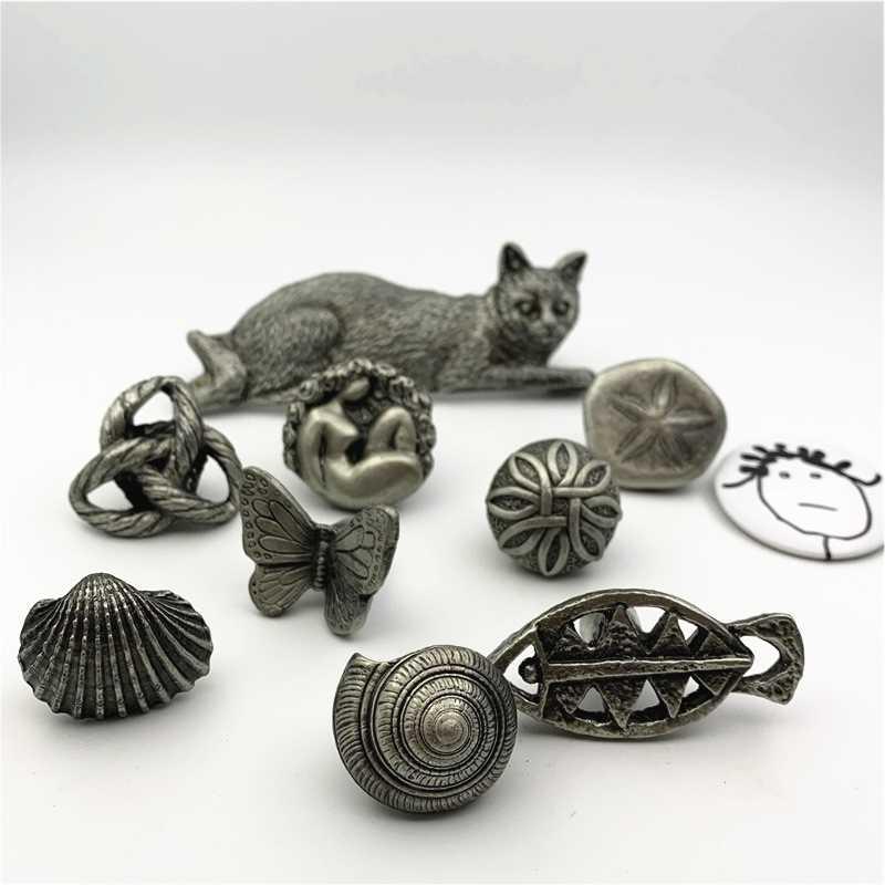 LCH İskandinav tarzı tanrıça kelebek düğüm mantar topuzu yaratıcı Vintage kurşun-çinko alaşımı dolap kulpu çekmece çekme mat gümüş