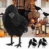 Модель черной вороны на Хэллоуин, 1 шт., имитация искусственных птиц, игрушки-животные для домашвечерние, праздничные вороны, реквизит, декор...