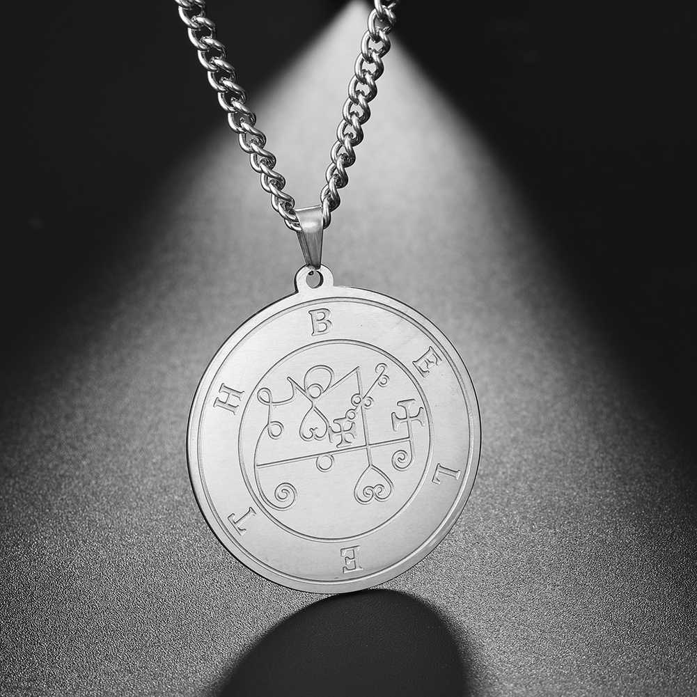 Dawapara wielki król beleth-mniejszy klucz salomona pieczęć kabała wisiorek Amulet mężczyźni naszyjnik ze stali nierdzewnej