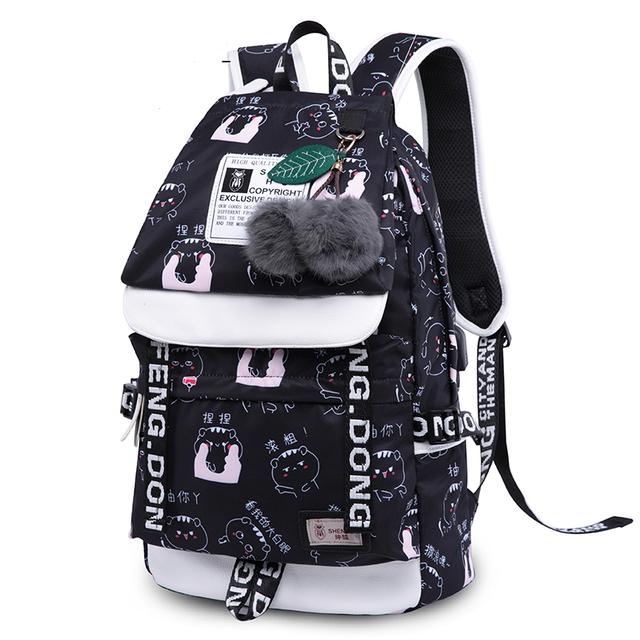 New Women Shoulder Bag Best Travel Women Backpack Female Printing Waterproof School Knapsack Mochila Book Bag