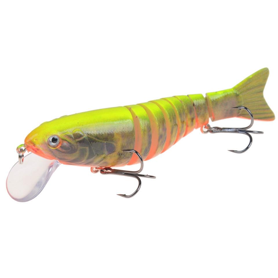 1pcs Multi Sections 7 Segments Minnow Swimbait Wobblers 10.5cm 17g Lifelike Fishing Lure Crankbait Artificial Hard Bait Tackle