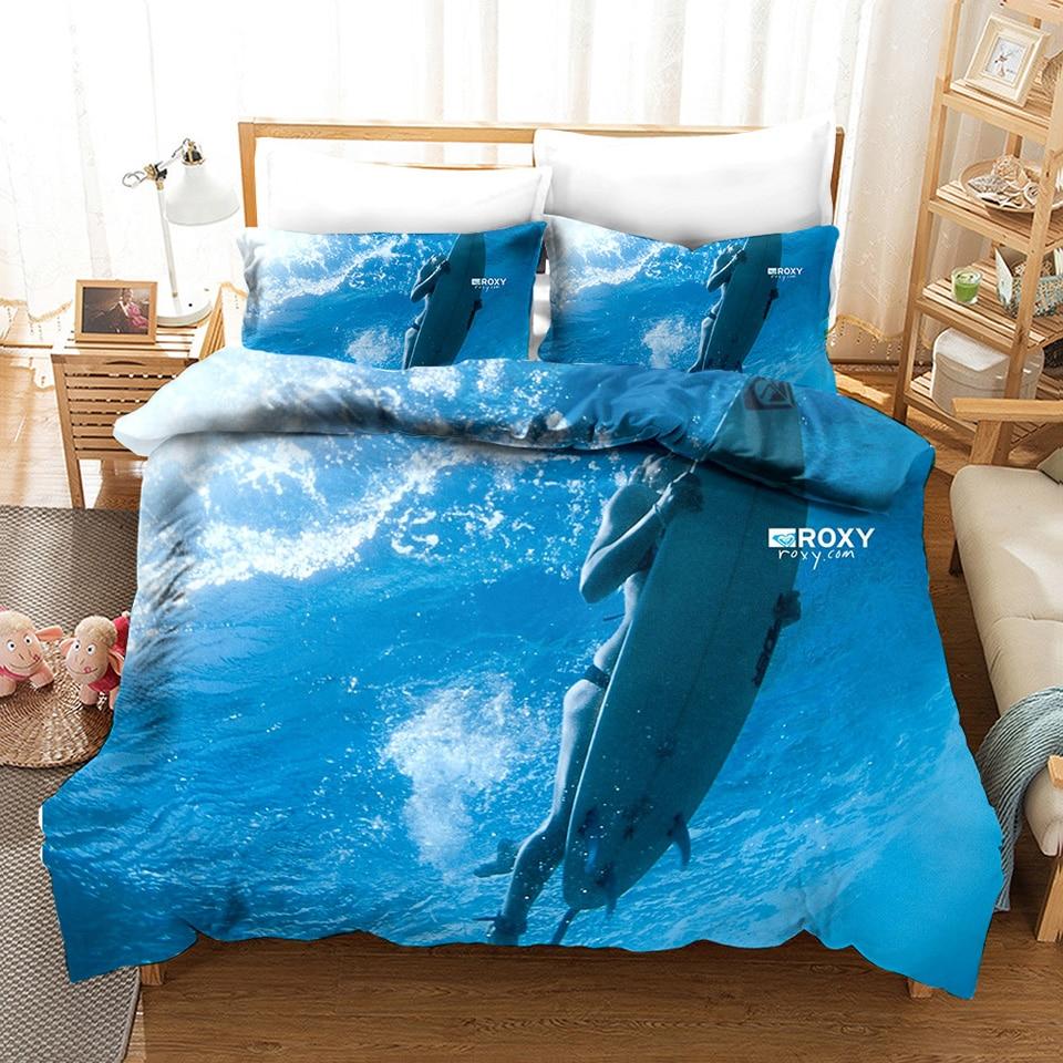 3d Surf Bedding Set Queen Quilt Summer Bed Linen And Duvets Cover