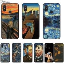 Van Gogh art Mona Lisa Phone Case For Xiaomi