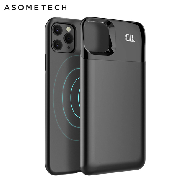 Battery Case For iPhone 11 Pro Max Digital Display Magnetic Charge Powerbank Case Battery Charger Case Power Bank For iPhone XS