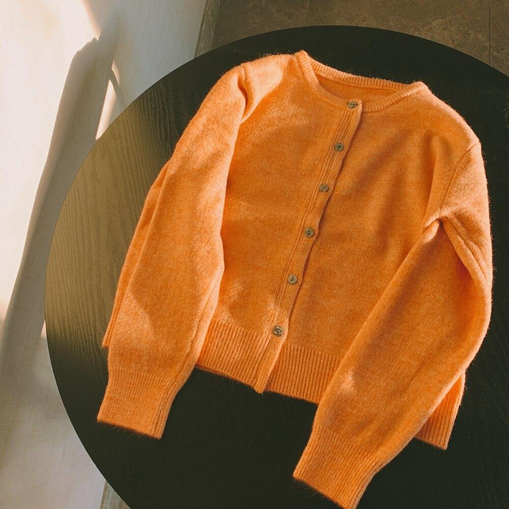 УКОРОЧЕННЫЙ ТОП zhisilao вязаный свитер кардиган Женский однотонный