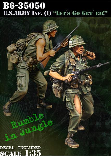 1/35 Resin Figures Model Kit Vietnam War US Soldiers (2pcs/lot) Unpainted XD111