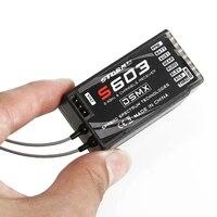 1 pces receptor rc s603 6ch 2.4g receptor compatível com transmissor de espectro jr DSM X dsm2 Peças e Acessórios     -