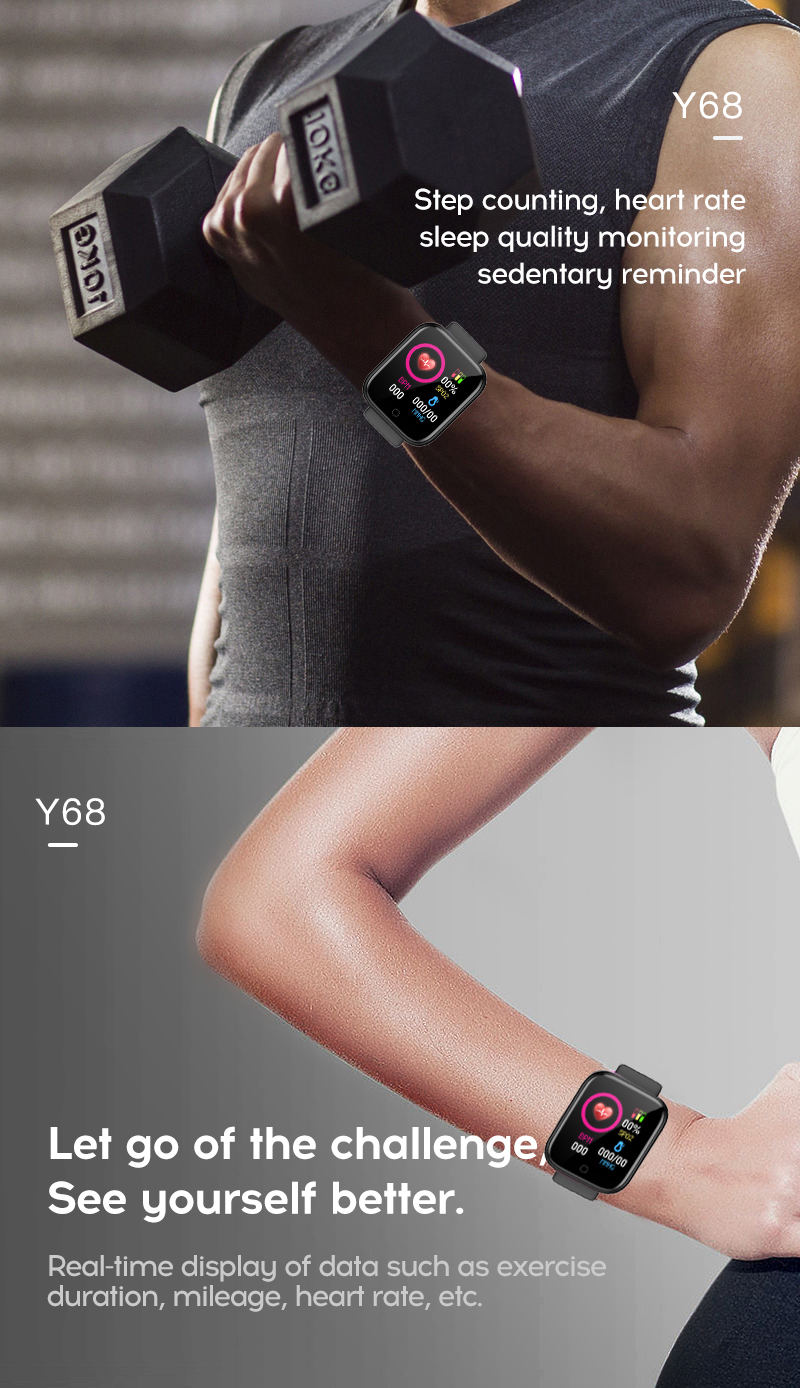 H3ce399f855c4459085c39bd7a65a99d4e Smart Watch Blood Pressure Smartwatch Tracker Heart Rate Fitness