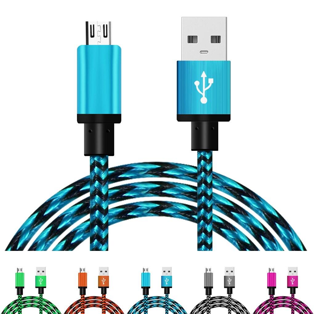 Cable cargador micro-usb Universal de transmisión de datos para Samsung Galaxy S4 S5 S6 Note2 para HTC para Xiaomi para Huawei 5 colores