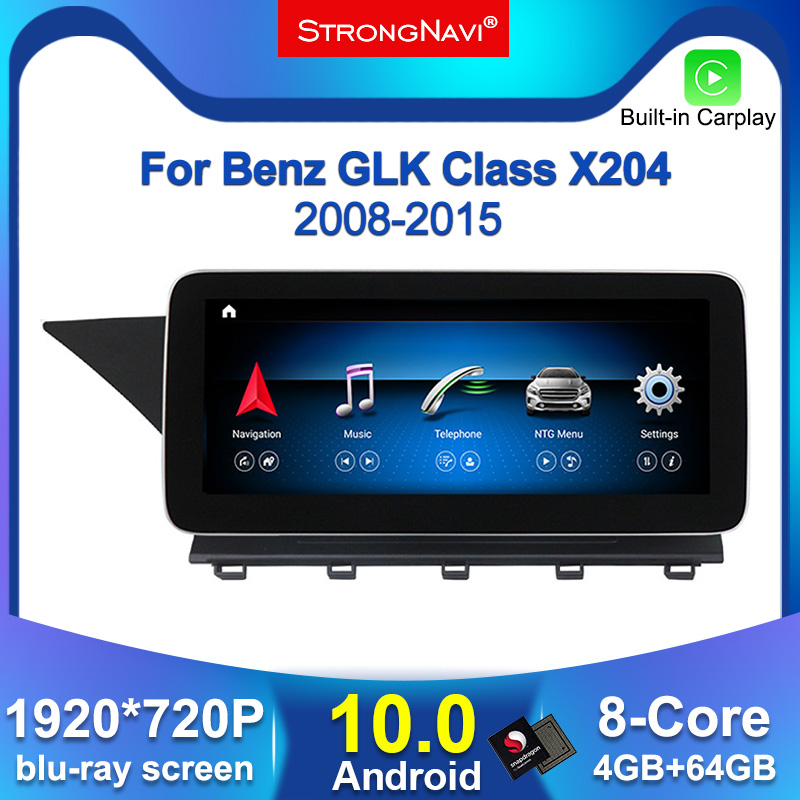 Android 10 1920*720P 4G lte araç dvd oynatıcı radyo ses multimedya oynatıcı Mercedes Benz GLK sınıfı X204 2008 - 2015 GPS navigasyon BT