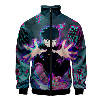 2019 Mob Psycho 100 Zipper Jackets Casual Jaclkets New Fashion Highstreet Autumn And Spring Clothes Mob Psycho 100 Jacket фото