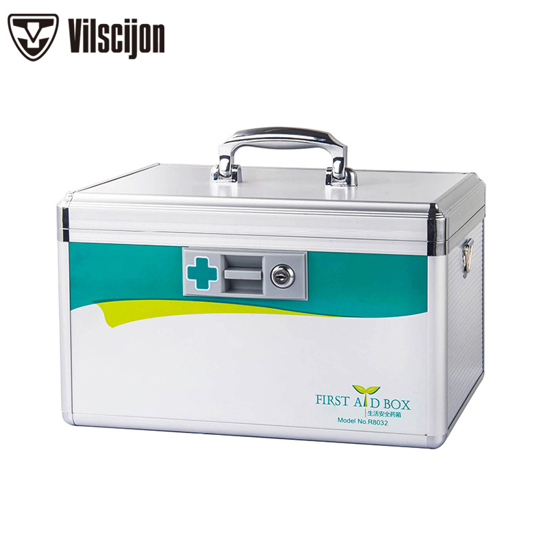 Aluminum alloy Household Medicine box With lock portable First aid kit Family Medical Multi-function Visiting