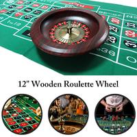 Adult Drinken Game KTV Game Wooden Deluxe Russian Spinning Roulette Poker Chips Drinking Game Set Party Supplies Wine Games 4