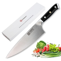 KEEMAKE 8 inch Chef Knife Kitchen Knives Liquid Metal Steel 65HRC Strong Hardness Chef's Cutter Tools Top Quality G10+S/S Handle