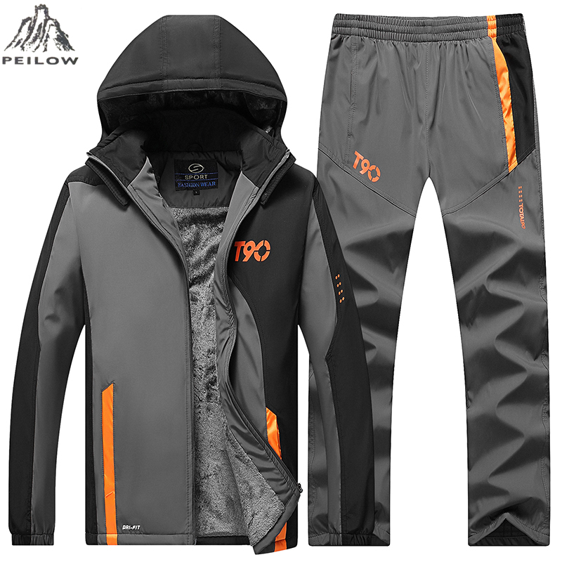 Mens Tracksuit Outwear Jacket Set 2PCS Autumn Spring Track Suit Male Mesh Lining Sweatshirts Jacket+Pants Sets Sweat Suits Men