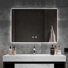 frameless bathroom mirror backlight smart mirror wall mounted LED intelligent anti fog mirror with light