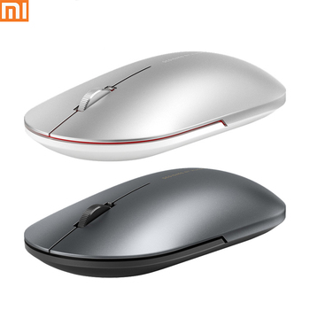 IN STOCK Xiaomi Fashion Mouse Metal Material Appearance Stylish Slim Portable 2.4G Bluetooth Mute Button For Windows 7/8/10
